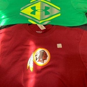 T shirt lot (2). Redskins Reebok and Under Armour.